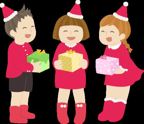 クリスマスプレゼント 子供 イラスト