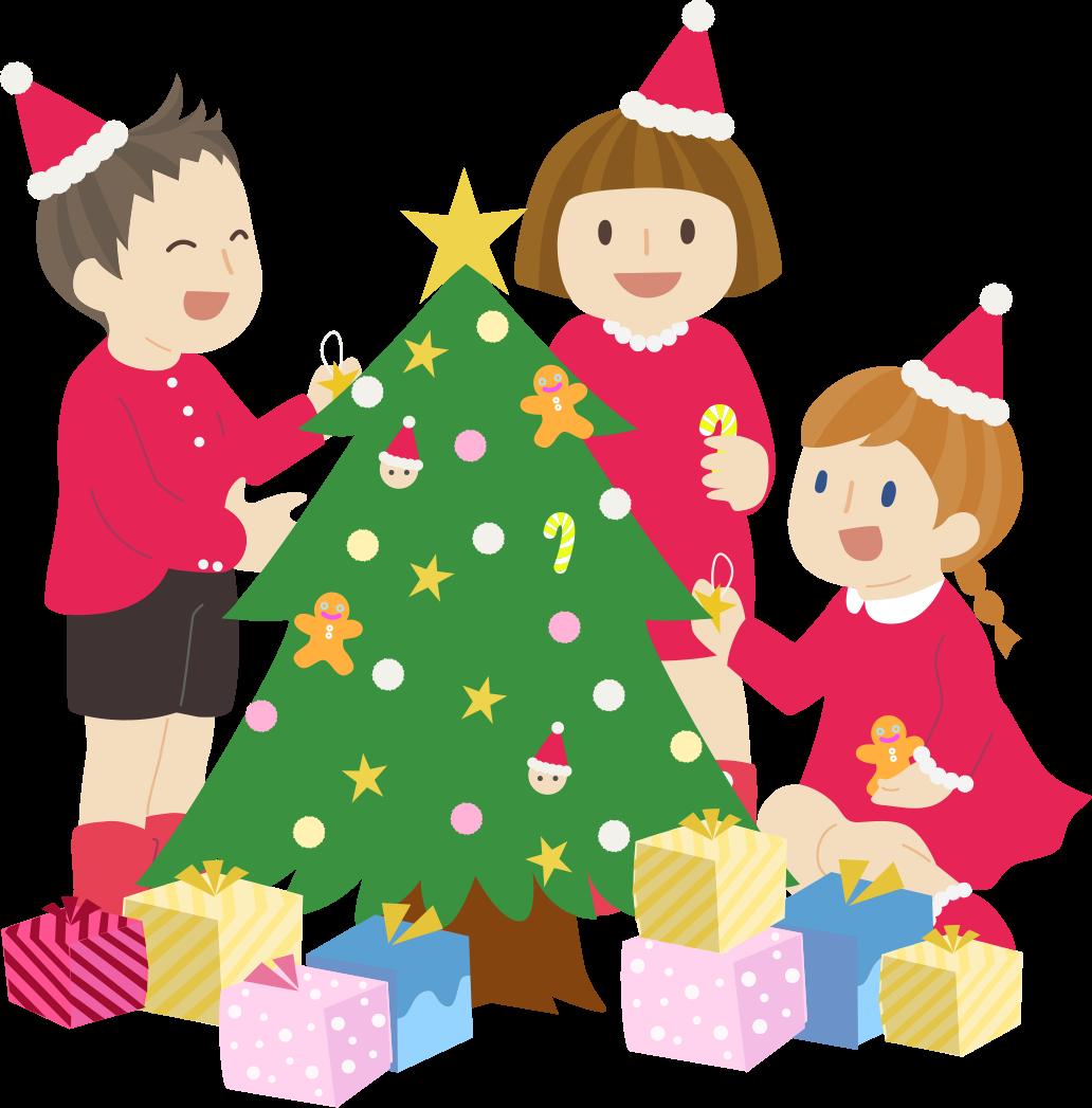クリスマス会のかわいいイラスト画像素材(無料、フリー)