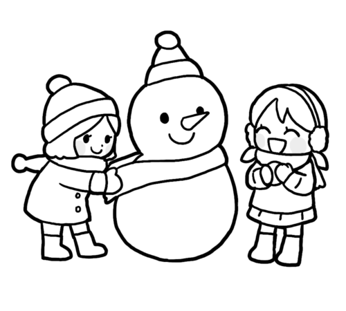 雪だるま マフラー イラスト