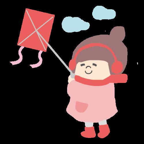 凧揚げ 子供 イラスト かわいい フリー 無料