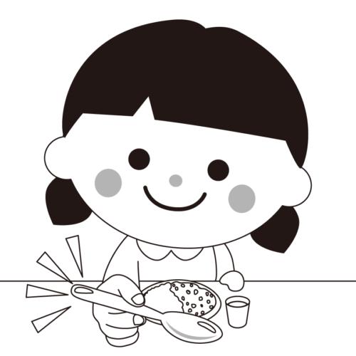 スプーン 持つ 女の子 イラスト 無料 フリー