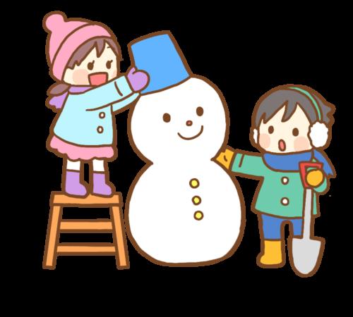 雪だるま バケツ 帽子 イラスト