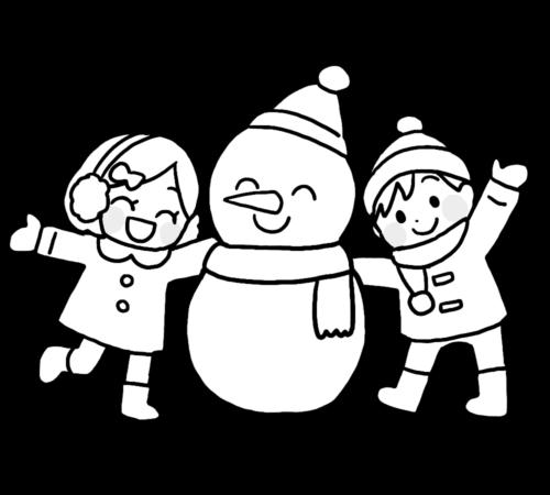 雪だるま イラスト 幼稚園 保育園