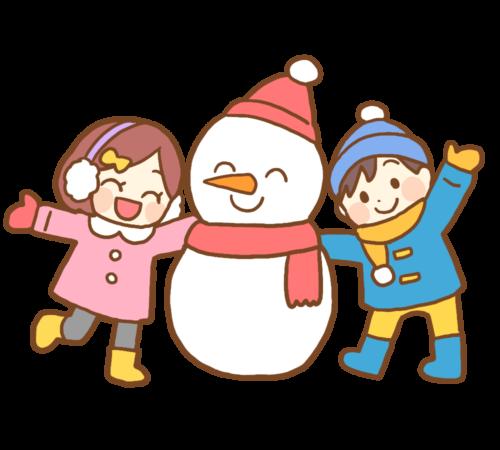 雪だるま 保育園 イラスト