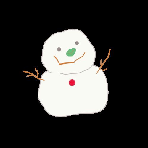 雪だるま イラスト ゆるい