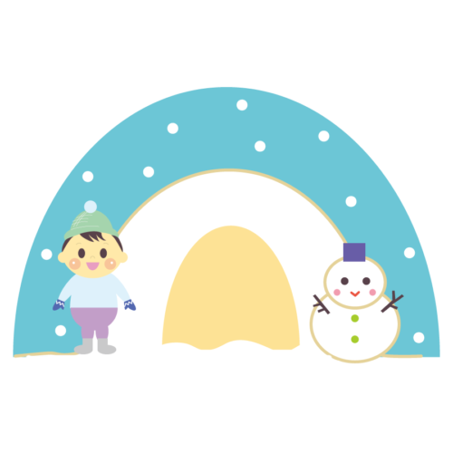 冬 雪遊び イラスト かわいい