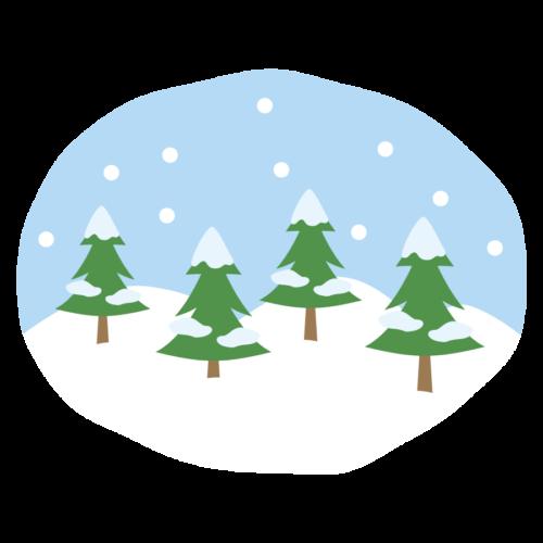冬 木 雪 イラスト 無料 フリー