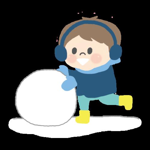 雪玉 イラスト フリー 無料