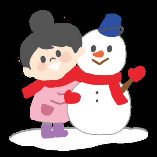 雪だるま 女の子 イラスト かわいい