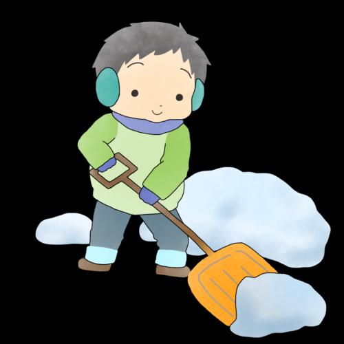 雪かき スコップ イラスト