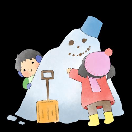 雪だるま イラスト おもしろい