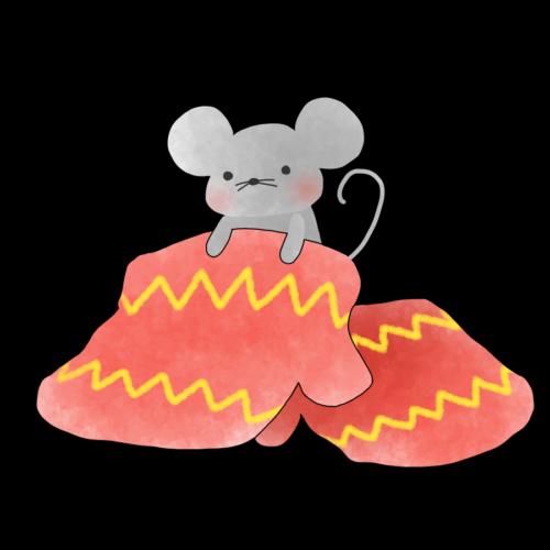 手袋 イラスト かわいい 無料 フリー ネズミ