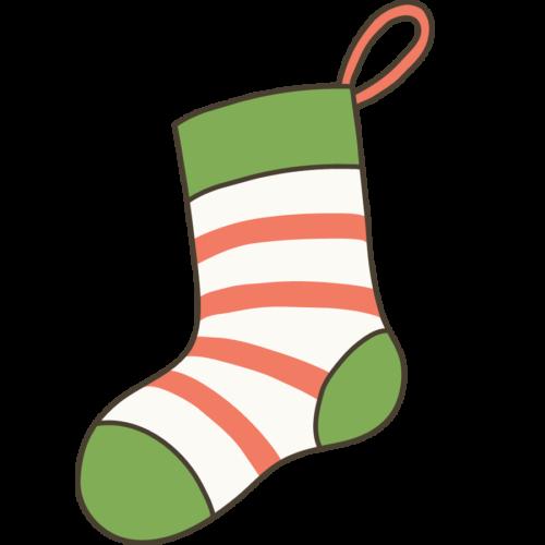 クリスマス 靴下 イラスト シンプル