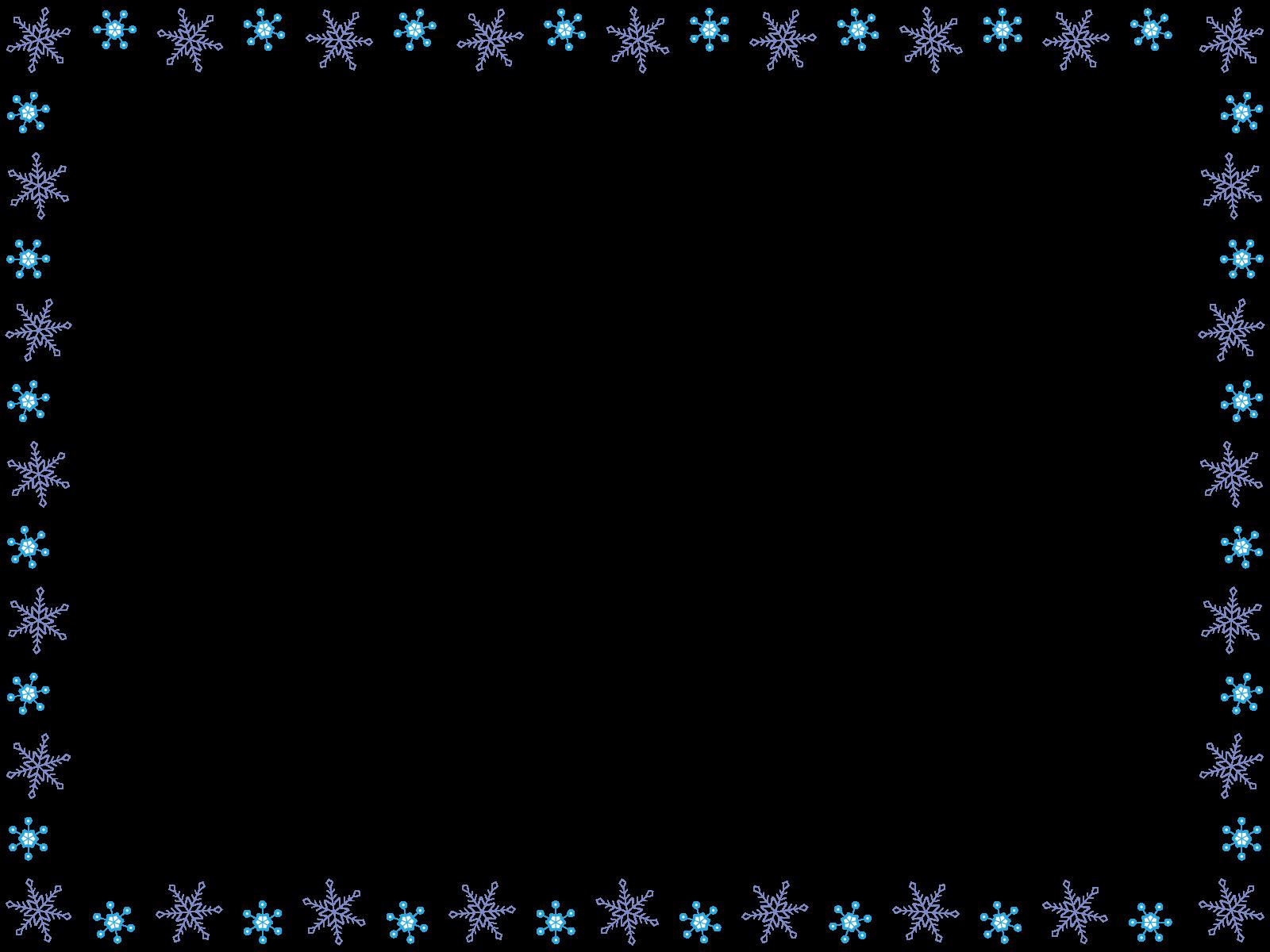雪の結晶のフレーム枠イラスト画像素材2(フリー、無料)