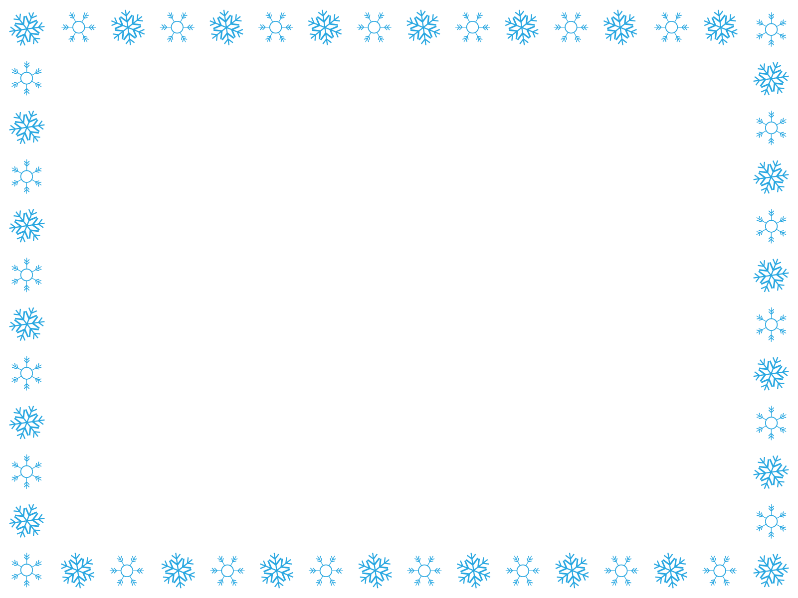 雪の結晶のフレーム枠イラスト画像素材4(フリー、無料)