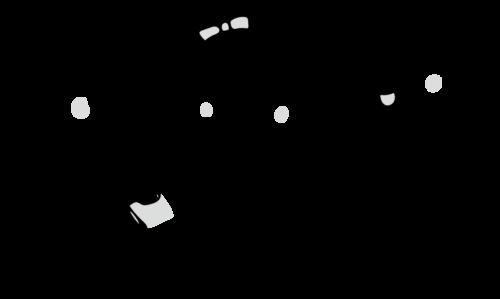 手洗い ハンカチ イラスト 白黒 モノクロ