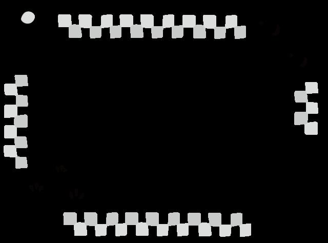 門松 鏡餅 フレーム 枠 イラスト 白黒 モノクロ