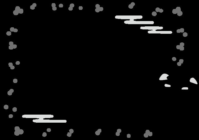 獅子舞 フレーム 枠 イラスト 白黒 モノクロ
