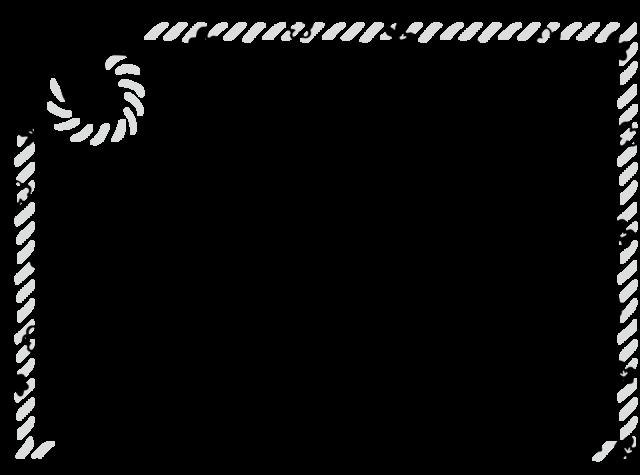 ハッピーニューイヤー フレーム 枠 イラスト 白黒 モノクロ