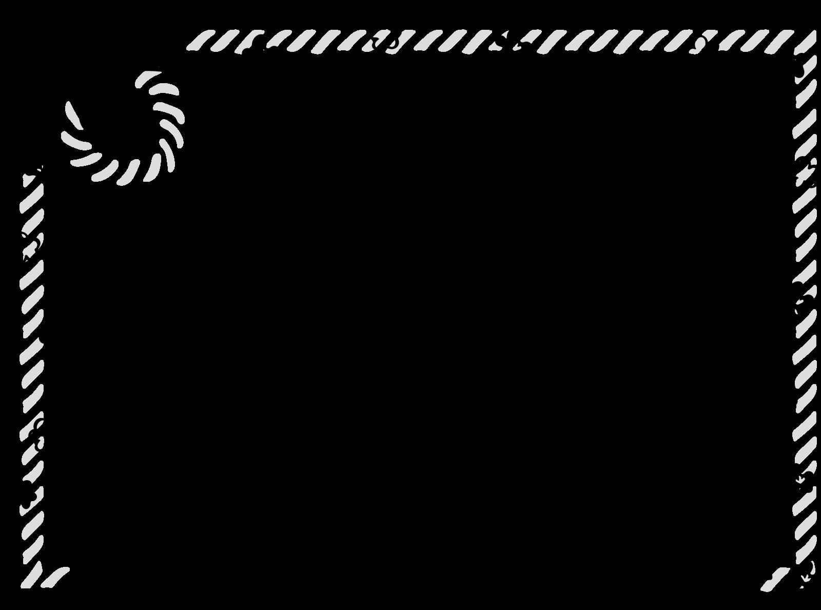 ハッピーニューイヤーのフレーム枠背景イラスト画像素材(白黒、モノクロ)
