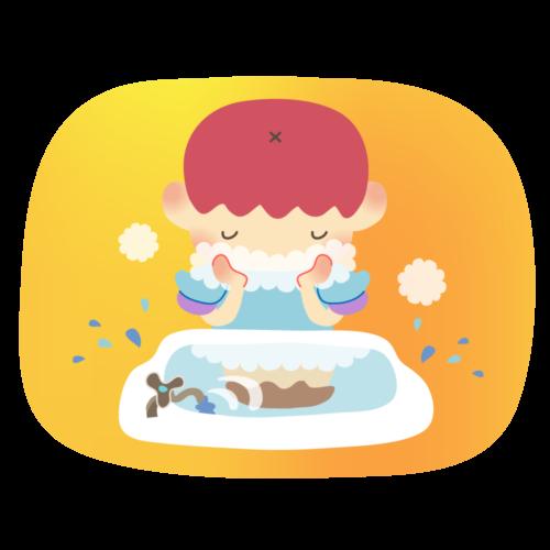 顔 洗う イラスト 子供 無料 フリー