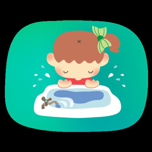 顔 洗う イラスト 女の子 無料 フリー
