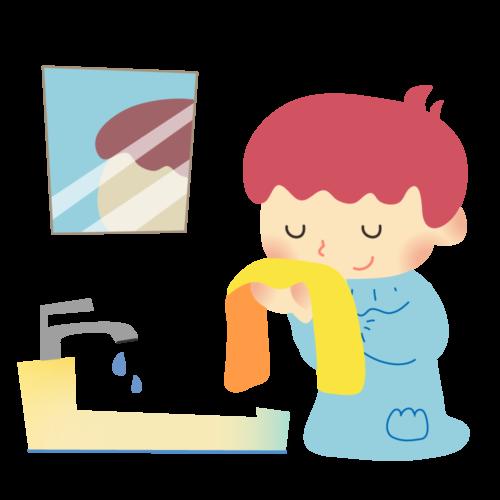 顔 洗う イラスト 保育園 幼稚園 無料 フリー