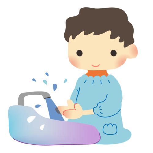 手洗い 子供 イラスト かわいい