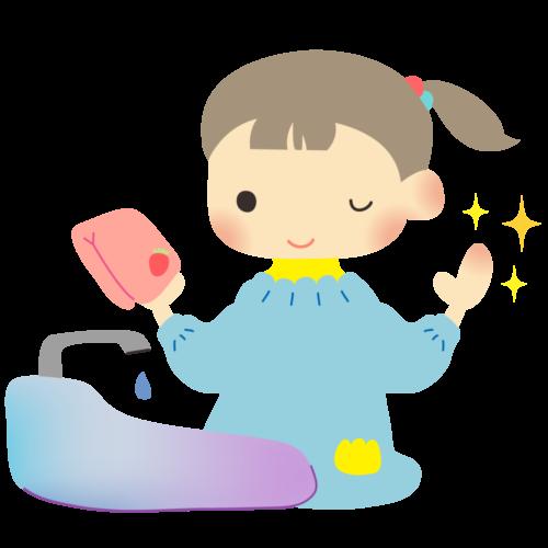 手洗い ピカピカ イラスト