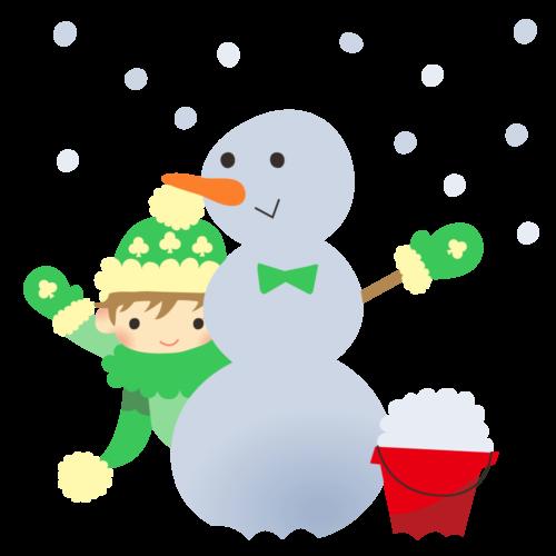 雪だるま 手袋 イラスト かわいい