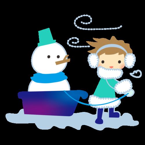 雪だるま マフラー イラスト かわいい