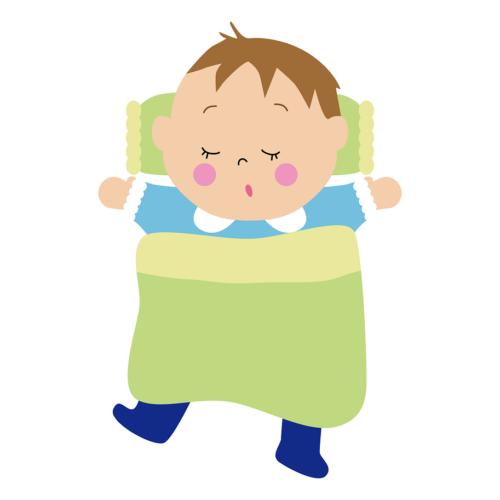 布団 寝る 幼児 イラスト 無料 フリー