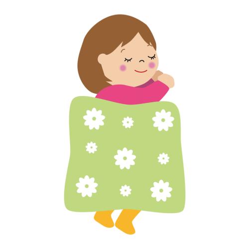 布団 眠る イラスト 子供 かわいい フリー 無料
