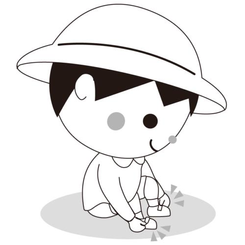 靴 履く イラスト 白黒 モノクロ