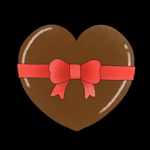 チョコレート リボン イラスト 無料 フリー
