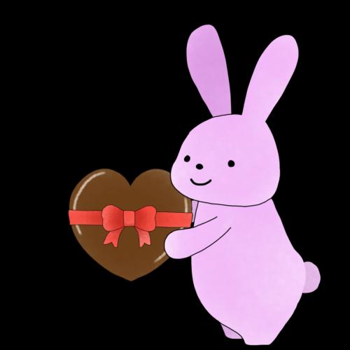 うさぎ チョコレート イラスト 無料 フリー