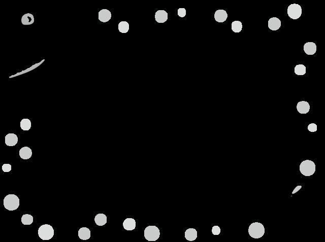 お菓子 フレーム 枠 イラスト 白黒 モノクロ