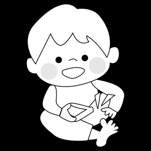 足 爪切り イラスト 白黒 モノクロ