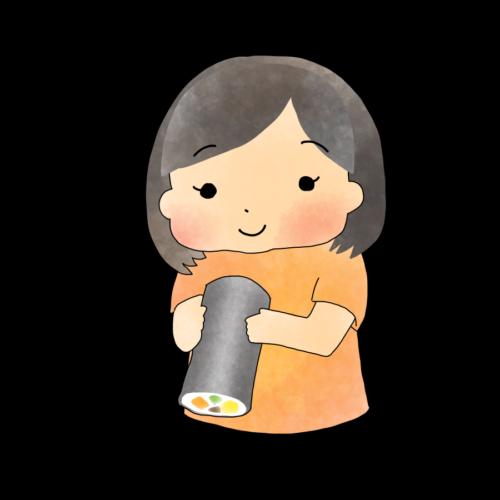 恵方巻き 女の子 イラスト 無料 フリー