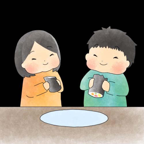 恵方巻き 食べる イラスト 無料 フリー