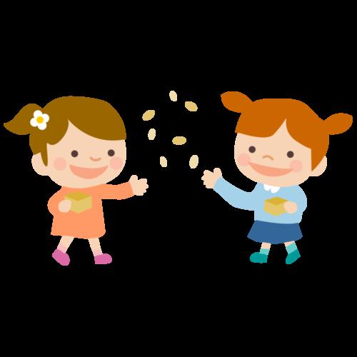 幼稚園 豆まき イラスト 無料 フリー