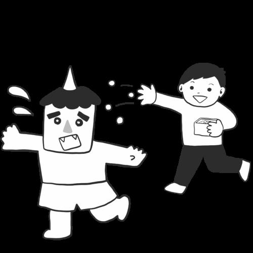 鬼 豆まき イラスト フリー 無料