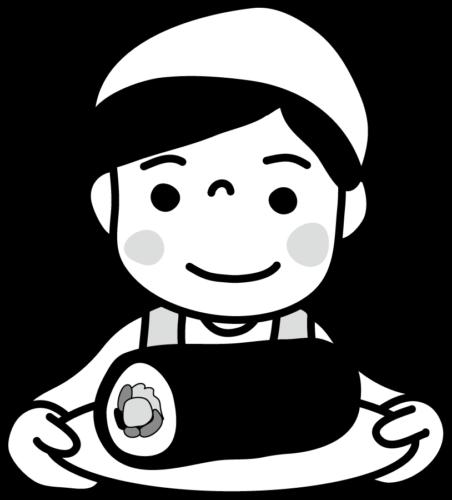 恵方巻き 具材 手作り イラスト フリー 無料 白黒 モノクロ