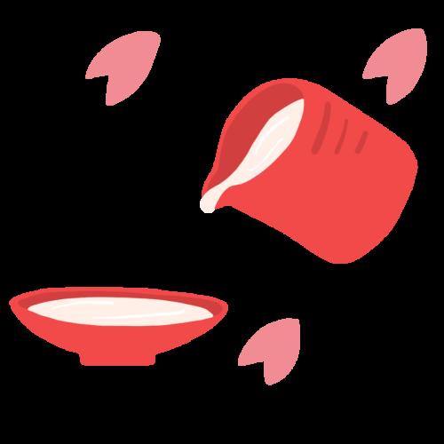 桜 甘酒 イラスト フリー 無料