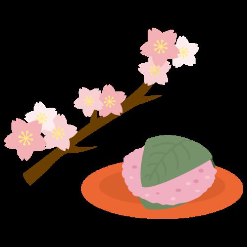 桜の葉 桜餅 かわいい イラスト フリー 無料