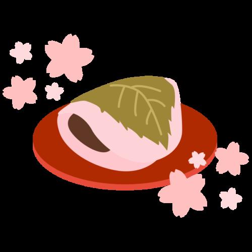 焼皮 桜餅 かわいい イラスト フリー 無料