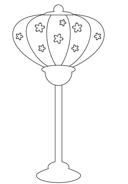 ひな祭り ぼんぼり かわいい イラスト フリー 無料 白黒 モノクロ