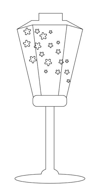 行燈 かわいい イラスト フリー 無料 白黒 モノクロ