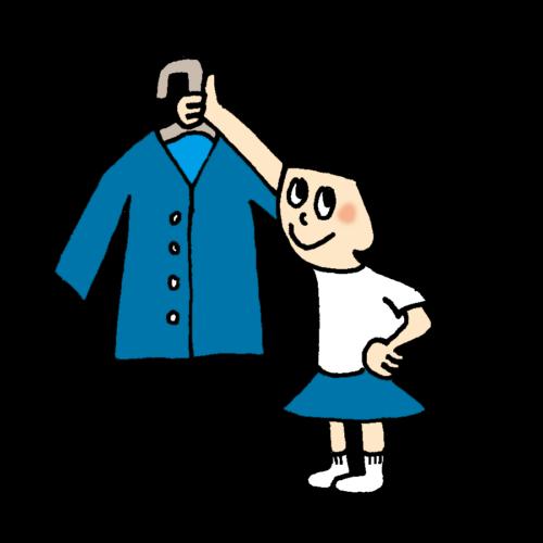 着替え できた 子供 かわいい イラスト フリー 無料