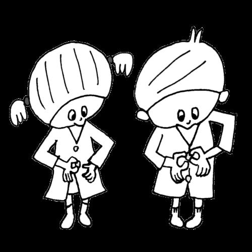 自分 着替え できる 子供 かわいい イラスト フリー 無料 白黒 モノクロ